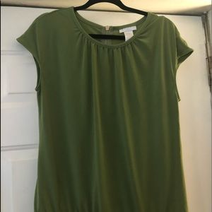 Green blouse. Very comfortable